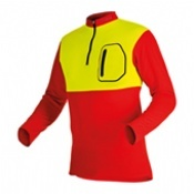 Pfanner Zip Neck Shirt Hi-Viz Neon Yellow Long Sleeves