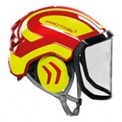 Protos Integral Arborist Helmet Red/Yellow
