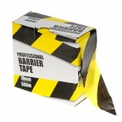 Yellow and Black Barrier Tape 500m Rolls