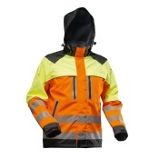 Pfanner Nanoshield Rain Jacket EN20471 Orange Yellow