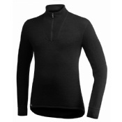 Woolpower Zip Turtleneck 400 Black