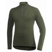 Woolpower Zip Turtleneck 400 Green