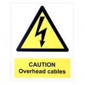 Caution Overhead Cables Warning Signs
