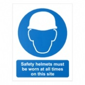 Safety Helmets Must Be Worn Signs