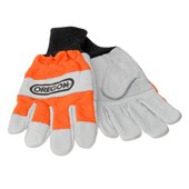 Oregon Leather Chainsaw Gloves