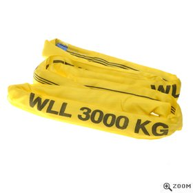3 Tonne Round Slings in Yellow