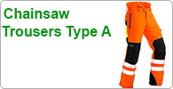 Type A Chainsaw Trousers with Front of Leg Cut Protection